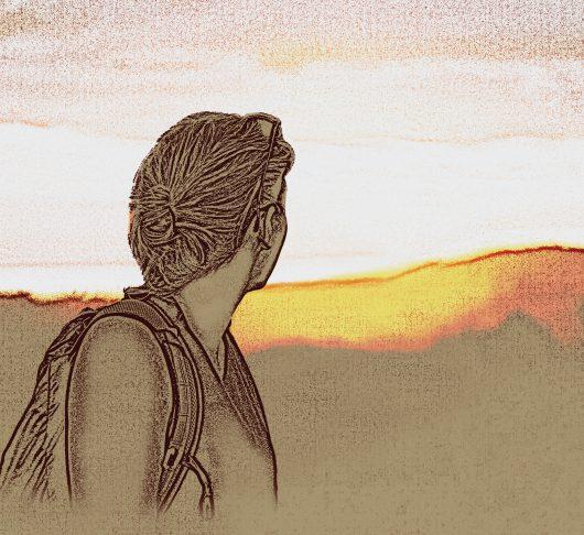 Afbeelding van een vrouw die naar de horizon staart. Ignatiaans bidden, wat is dat?