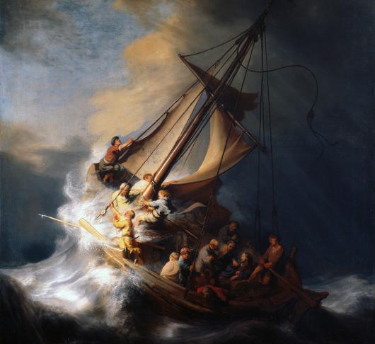 Jezus ontmoeten in de storm