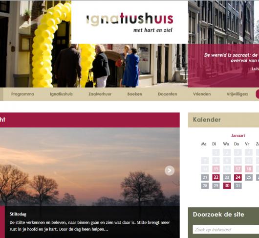 Nieuwe website Ignatiushuis