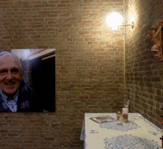 Inwijding kapel Nico Kluiters sj en Frans van der Lugt sj